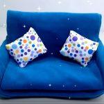 Doll Mini | Hướng dẫn làm ghế sofa từ giấy và vải