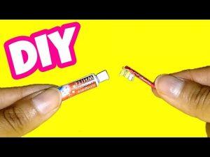 hướng dẫn làm kem và bàn chải đánh răng
