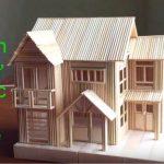 Hướng dẫn cách làm nhà biệt thự từ tăm tre