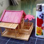 Hướng dẫn làm ngôi nhà nhỏ mini từ tăm tre