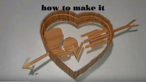 hướng dẫn làm trái tim tăm tre
