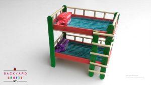 làm giường hai tầng bằng que kem gỗ
