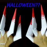 Hướng dẫn làm bộ móng vuốt băng giấy halloween