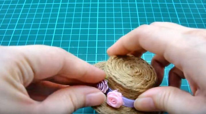 làm mũ mini doll