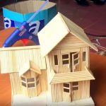 Hướng dẫn làm nhà lầu siêu đẹp từ tăm tre