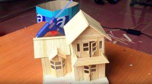 làm nhà bằng tăm tre