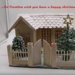 Hướng dẫn cách làm ngôi nhà que kem gỗ cho giáng sinh