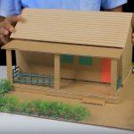 Hướng dẫn cách làm ngôi nhà siêu đơn giản từ bìa carton