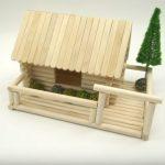 Hướng dẫn cách làm ngôi nhà nhỏ từ que kem gỗ