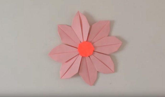 cách gấp hình bông hoa từ giấy